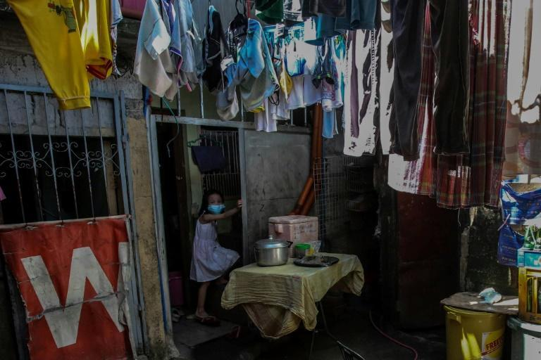 A recent UNICEF survey found 80 percent of parents worry their children are learning less with remote study (AFP/Jam STA ROSA)