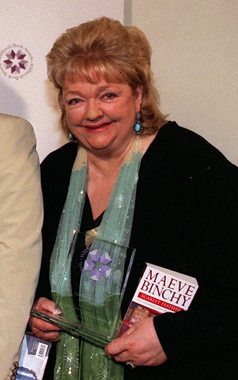 FILE This is a  April 26, 2001 file photo of author Maeve Binchy.  Binchy, one of Ireland's most popular writers who sold more than 40 million books worldwide, has died in Dublin after a brief illness, according to Irish media reports Tuesday July 31, 2012. She was 72 years old.  (AP Photo/Myung Jung Kim/PA File) UNITED KINGDOM OUT