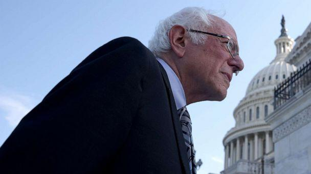 PHOTO: Sen. Bernie Sanders arrives at the Capitol after meeting with President Joe Biden at the White House on July 12, 2021 to discuss infrastructure legislation. (Win Mcnamee/Getty Images)