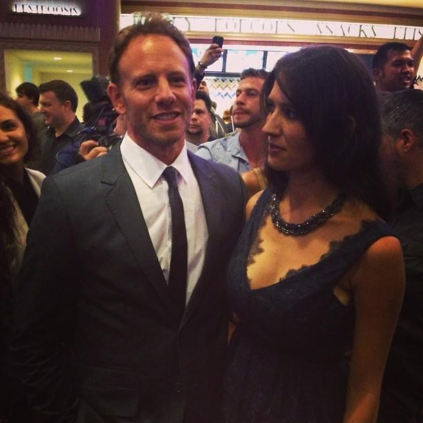 Ian Ziering just arrived at the theater. #sharknado