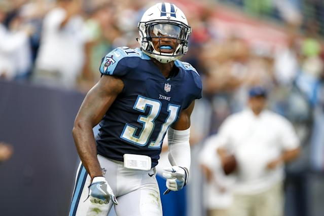 "<a class=""link rapid-noclick-resp"" href=""/nfl/players/29298/"" data-ylk=""slk:Kevin Byard"">Kevin Byard</a> will lead the Titans secondary into a Week 5 matchup against the <a class=""link rapid-noclick-resp"" href=""/nfl/teams/buf"" data-ylk=""slk:Buffalo Bills"">Buffalo Bills</a>. (Photo by Wesley Hitt/Getty Images)"