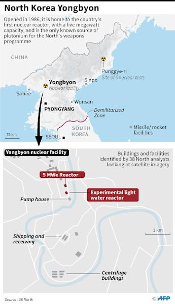 Map showing the Yongbyon nuclear site in North Korea (AFP Photo/)