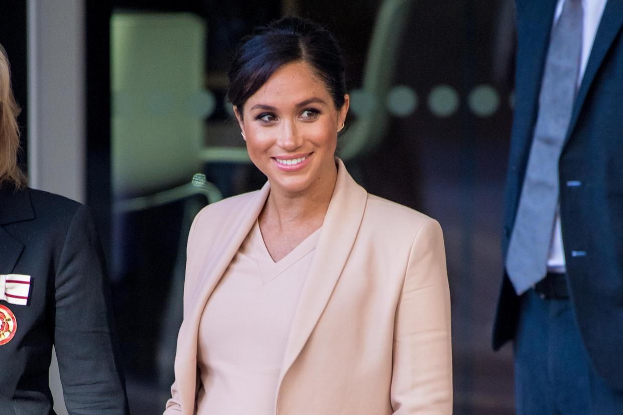 Meghan at the National Theatre last week [Photo: PA]