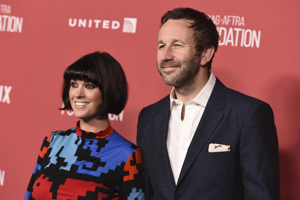 Dawn O'Porter and Chris O'Dowd arrive at the 2017 Patron of the Artists Awards at the Wallis Annenberg Center for the Performing Arts on Thursday, Nov. 9, 2017 in Beverly Hills, Calif. (Photo by Jordan Strauss/Invision/AP)