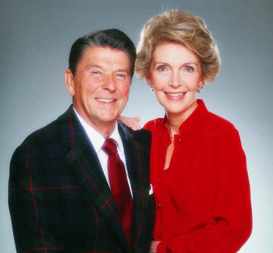 Ronald Reagan and Nancy Reagan in a portrait in 1980. 'The Reagans were students of movies. They didn't take their eyes from the screen, they didn't look around the room, they didn't do anything. They studied the movies,' writes Mark Weinberg in his memoir.