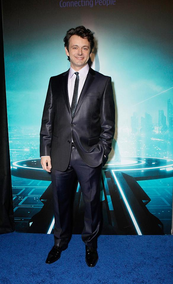 """<a href=""""http://movies.yahoo.com/movie/contributor/1802757622"""">Michael Sheen</a> attends the Los Angeles premiere of <a href=""""http://movies.yahoo.com/movie/1810096458/info"""">TRON: Legacy</a> on December 11, 2010."""