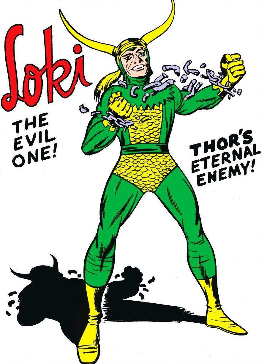 Loki, as drawn by Jack Kirby in the '60s Thor comics.