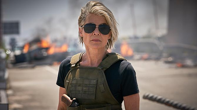 Linda Hamilton en Terminator: destino oscuro (Kerry Brown; © 2018 SKYDANCE PRODUCTIONS AND PARAMOUNT PICTURES. ALL RIGHTS RESERVED.)