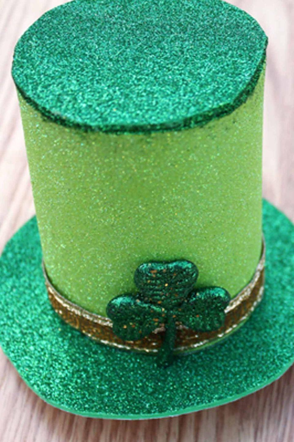 """<p><a href=""""https://www.womansday.com/style/fashion/"""" rel=""""nofollow noopener"""" target=""""_blank"""" data-ylk=""""slk:How adorable"""" class=""""link rapid-noclick-resp"""">How adorable</a> would these glittery top hats look on your kids?</p><p><em>Get the tutorial at <a href=""""http://www.creativegreenliving.com/2013/03/saint-patricks-day-crafting-little.html"""" rel=""""nofollow noopener"""" target=""""_blank"""" data-ylk=""""slk:Creative Green Living"""" class=""""link rapid-noclick-resp"""">Creative Green Living</a>.</em> </p>"""