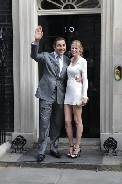 Celebrity photos: David Walliams and his wife Lara Stone visited Downing Street this week. The Britain's Got Talent judge joked that he had to resist going in character as Sebastian, the Prime Minister's gay assistant, from Little Britain. Now that would've been amazine.