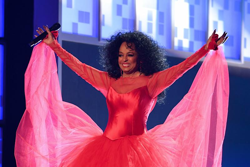 """THIS WOMAN IS A GODDESS!Look at this dress! And next time you're down, try your hardest to channel Diana Ross saying """"Happy birthday to me!"""" We can definitely see where Tracee gets it."""