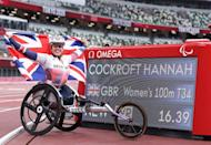 <p>An incredible repeat performance, Team GB's Hannah Cockroft beat her own world record to win gold in the women's 100m T34 final. Great Britain's Kare Adenegan won silver.<br></p>