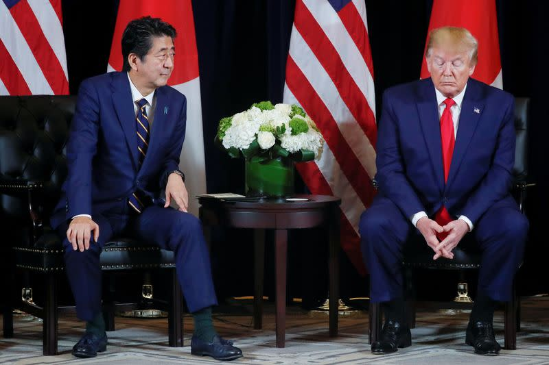 Trump marks U.S.-Japan security pact with call for stronger, deeper alliance