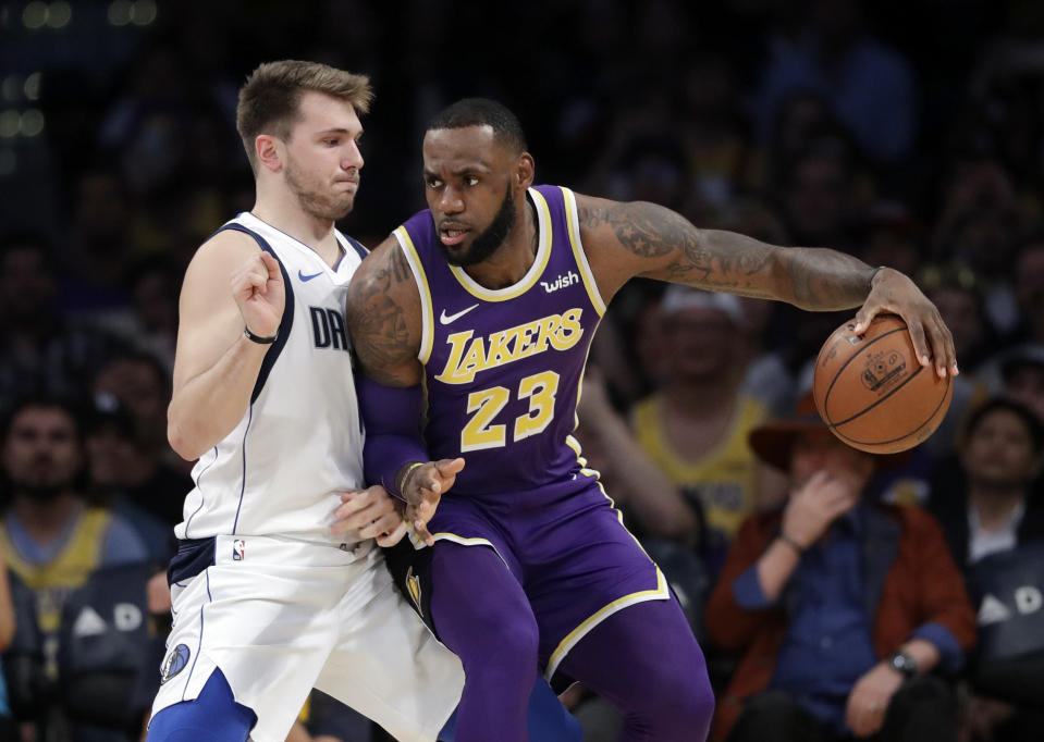 Luka Doncic and LeBron James will face off on Christmas Day.