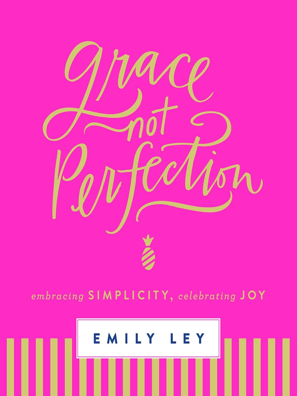 """<p><a href=""""https://www.emilyley.com"""" class=""""link rapid-noclick-resp"""" rel=""""nofollow noopener"""" target=""""_blank"""" data-ylk=""""slk:Emily Ley"""">Emily Ley</a> is a busy mom of three young children. She is the creator of a very popular life planner called the Simplified Planner and a self-taught designer. Even with her busy life, she felt that it was incredibly important to explore a topic that she was passionate about in <strong><span>Grace, Not Perfection</span></strong>: the idea of simplifying. Ley feared that there were many women like her out there who had become trapped on the """"hamster wheel of trying to do it all."""" She wanted to bring to light the power of grace over perfection and how people tend to take life too seriously.</p>"""