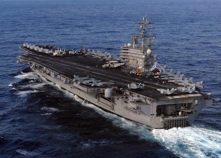 The USS Ronald Reagan is pictured near Japan, in support of earthquake and tsunami relief efforts, on March 12, 2011
