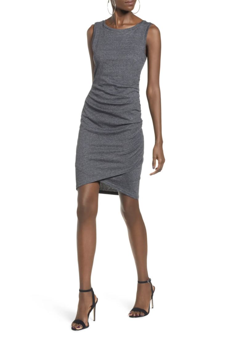 Leith Ruched Body-Con Tank Dress - Nordstrom.