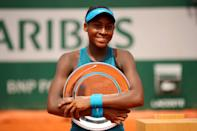 Gauff became the second youngest player to win the Junior French Open in 2018, two months after her 14th birthday.