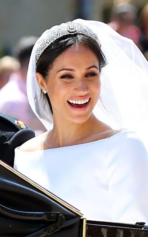 meghan markle wedding tiara - Credit: Gareth Fuller/PA Wire