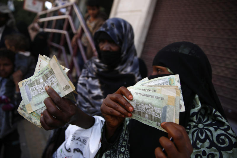 Amid currency's freefall, Yemen receives cash injection
