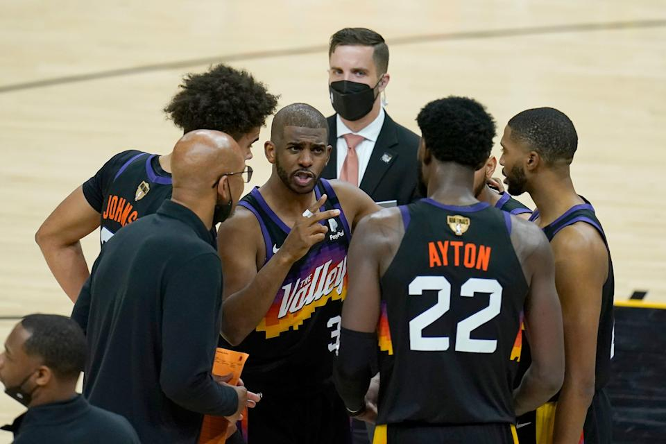 Chris Paul (3) was the catalyst for the Suns reaching the NBA Finals, and retaining him will be a top priority.