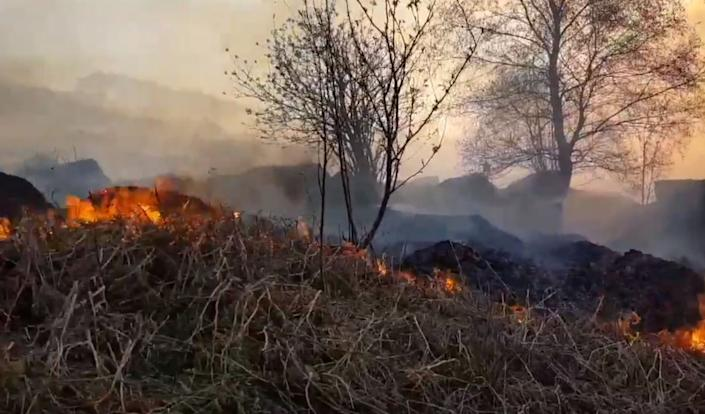 Zulkifl's actions contributed to a 50 mile blaze on the moorland (SWNS)