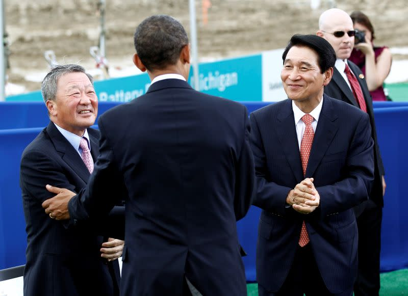 FILE PHOTO: Obama visits a groundbreaking for a battery power plant in Michigan