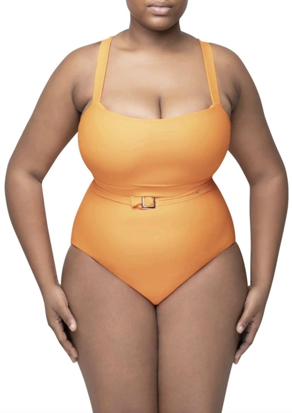 <p>Add a pop of color to your swimwear with this sun-kissed belted <span>Andrea Iyamah Shani One Piece Swimsuit</span> ($175).</p>
