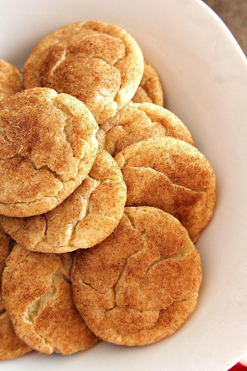 "<p>Californians are craving cinnamon-dusted cookies, and we have no choice but to stan. Snickerdoodles are seriously good, so we know they're doing something right.</p> <p><strong>Get the recipe</strong>: <a href=""https://www.popsugar.com/food/Disneyland-Snickerdoodle-Cookie-Recipe-38151277"" class=""link rapid-noclick-resp"" rel=""nofollow noopener"" target=""_blank"" data-ylk=""slk:snickerdoodles"">snickerdoodles</a></p>"