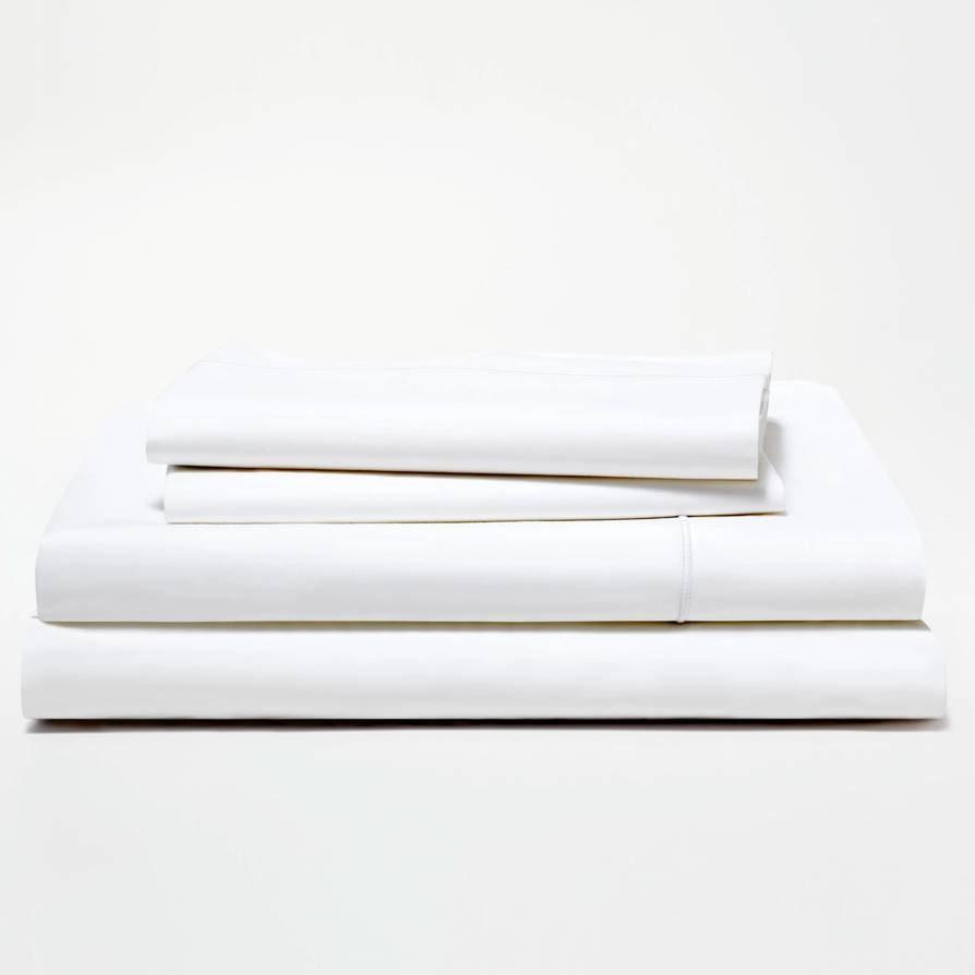 "<p>As one of the more expensive sheet sets of the bunch, the Snowe Home Percale Sheet Set is for anyone looking to bring a truly luxe hotel vibe into their humble abode. The 500-thread long-staple cotton is top-of-the-line, and brought entertainment editor <a href=""https://www.glamour.com/contributor/christopher-rosa?mbid=synd_yahoo_rss"" rel=""nofollow noopener"" target=""_blank"" data-ylk=""slk:Chris Rosa"" class=""link rapid-noclick-resp"">Chris Rosa</a> to the realization that, ""if not for my dust-covered mantle with a five-day-old bag of Doritos on them, I'd think I was at a Four Seasons. Yes, these bed sheets were that good.""</p> <p><strong>Details:</strong></p> <ul> <li>Includes one fitted sheet, one flat sheet, and two pillowcases</li> <li>100% long-staple Egyptian cotton percale</li> <li>500 thread count</li> <li>OEKO-TEX certified</li> </ul> <p><strong>Star rating:</strong> 4.4 out of 5 stars</p> <p><strong>What customers say:</strong> ""My husband and I LOVE these sheets. It's like sleeping at a 5-star hotel every night!."" —<em>Brooke, reviewer on</em> <a href=""https://cna.st/affiliate-link/XG6wkdXU24XHEui6qnhNpceMNv1Zi8ko2ZTk6QXDC2Y8g7xarjYUSxJuWMWYQ98f3DySSzhQgdGrW4vsu1ETHhoRi13DuD?cid=5e56d6af70c12600088f41ef"" rel=""nofollow noopener"" target=""_blank"" data-ylk=""slk:Snowe"" class=""link rapid-noclick-resp""><em>Snowe</em></a></p> $220, Snowe. <a href=""https://snowehome.com/products/sheet-set?variant=3165826561"" rel=""nofollow noopener"" target=""_blank"" data-ylk=""slk:Get it now!"" class=""link rapid-noclick-resp"">Get it now!</a>"