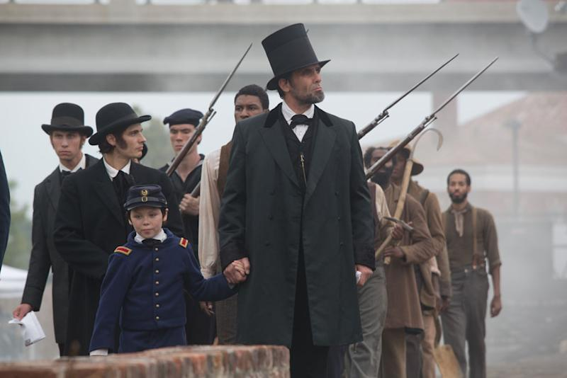 "Billy Campbell portrays Abraham Lincoln in the television film ""Killing Lincoln"" based on the best-selling book by Bill O'Reilly."