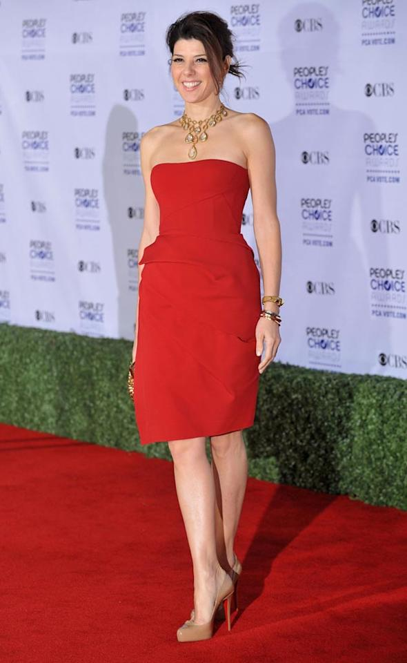 """<a href=""""/marisa-tomei/contributor/29689"""">Marisa Tomei</a> arrives at the 35th Annual People's Choice Awards held at the Shrine Auditorium on January 7, 2009 in Los Angeles, California."""