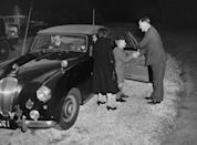 <p>On September 23, 1957, an 8-year-old Prince Charles began middle school at Cheam School in Berkshire. His mother, the Queen, and father, the Duke of Edinburgh, accompanied him as he greeted headmaster Peter Beck.</p>