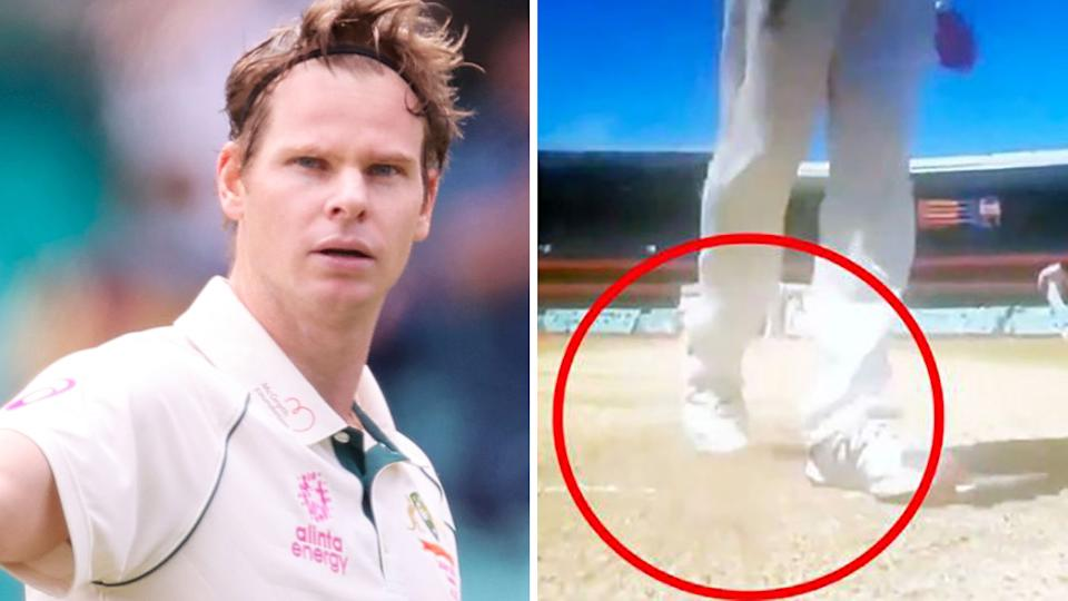 An Indian coach has revealed none of their batsmen even realised Steve Smith had been at the crease, saying the whole controversy 'does not matter'. Pictures: Getty Images/Fox Sports