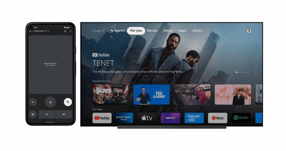 Android remote control for Google TV