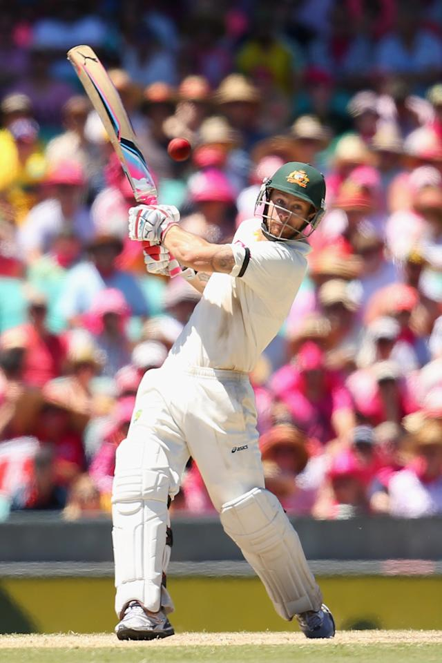 SYDNEY, AUSTRALIA - JANUARY 05:  Matthew Wade of Australia bats during day three of the Third Test match between Australia and Sri Lanka at Sydney Cricket Ground on January 5, 2013 in Sydney, Australia.  (Photo by Cameron Spencer/Getty Images)