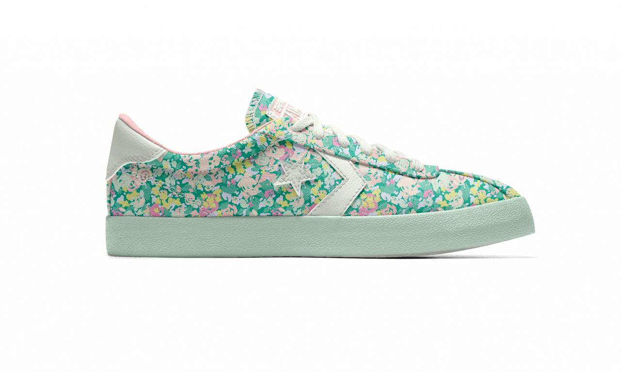 "<p>Custom Pastel Floral Breakpoint Ox, $85, <a rel=""nofollow"" href=""https://store.nike.com/us/en_us/product/womens-custom-converse-pastel-floral-breakpoint-ox-shoe/?piid=43601&pbid=591267353"">nike.com</a> </p>"