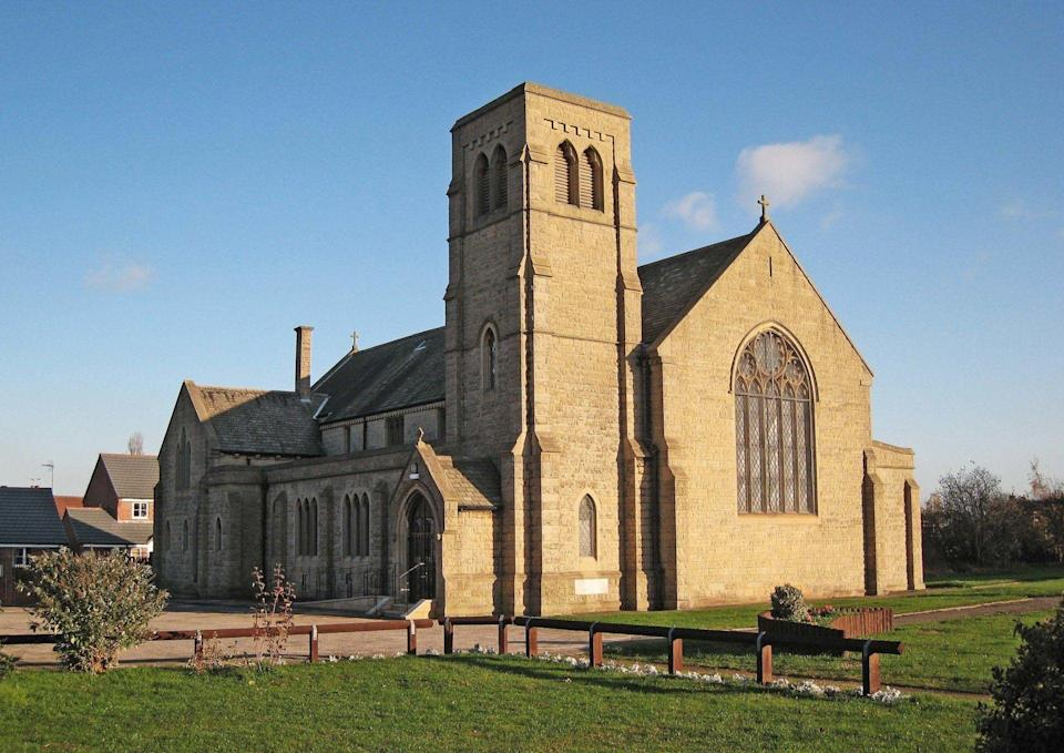 The St Simon and St Jude Church in the village of Thurcroft, near Rotherham