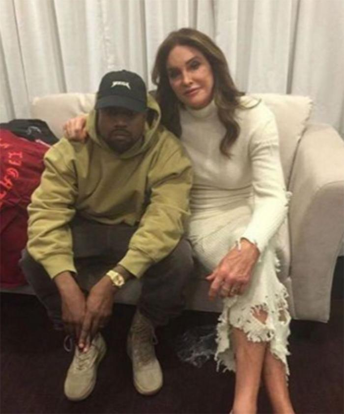 Kanye West and Caitlyn Jenner. Source: Instagram