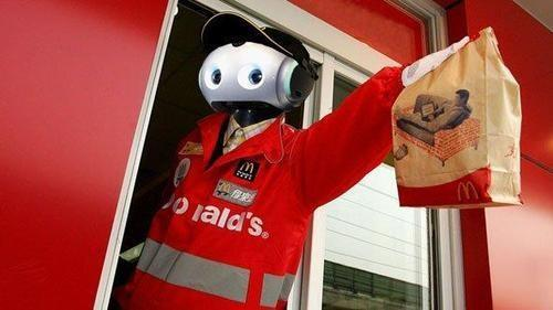 Robot working in McDonald's Drive-Through