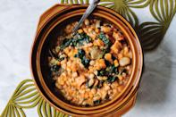 """You can cook with a <a href=""""https://www.epicurious.com/expert-advice/best-slow-cooker-article?mbid=synd_yahoo_rss"""" rel=""""nofollow noopener"""" target=""""_blank"""" data-ylk=""""slk:slow-cooker"""" class=""""link rapid-noclick-resp"""">slow-cooker</a> year round, but it feels especially right in fall, when you're craving a hearty soup like this one. Ribollita is thickened with bread and redolent with garlic. <a href=""""https://www.epicurious.com/recipes/food/views/slow-cooker-ribollita-italian-cannellini-bean-kale-bread-soup-stew?mbid=synd_yahoo_rss"""" rel=""""nofollow noopener"""" target=""""_blank"""" data-ylk=""""slk:See recipe."""" class=""""link rapid-noclick-resp"""">See recipe.</a>"""