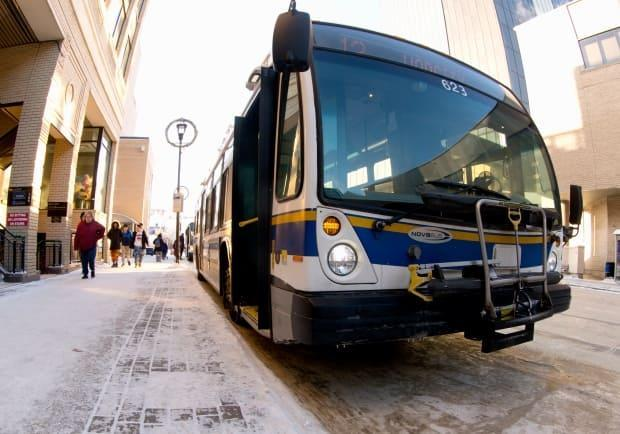 Regina's executive committee voted in favour of contributing $686,505 of the total $2.5 million required to install driver shields and self-securing mobility stations on buses.  (Bryan Eneas/CBC News - image credit)