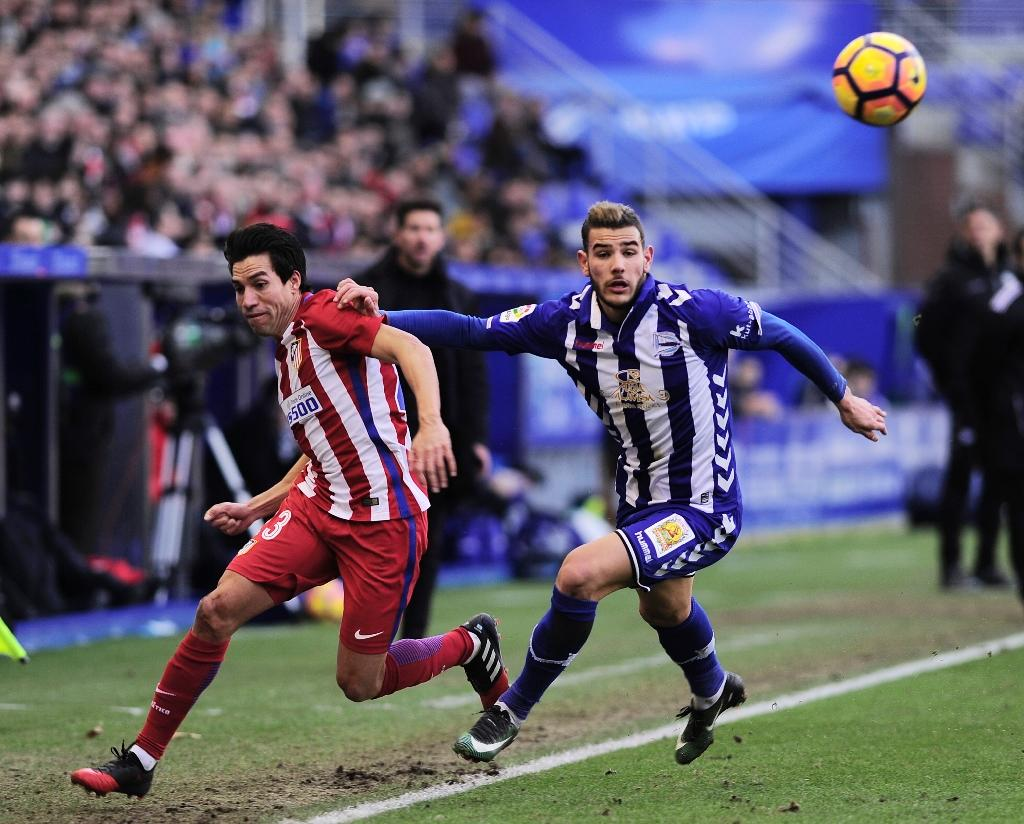 A sexual assault complaint case against Theo Hernandez (R), pictured during a Spanish league football match on January 28, 2017, was dismissed by a court in the southern city of Marbella (AFP Photo/ANDER GILLENEA)