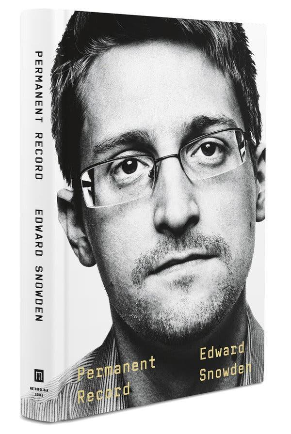 "Snowden's autobiography ""Permanent Record."" (Photo: McMillan Publishers)"