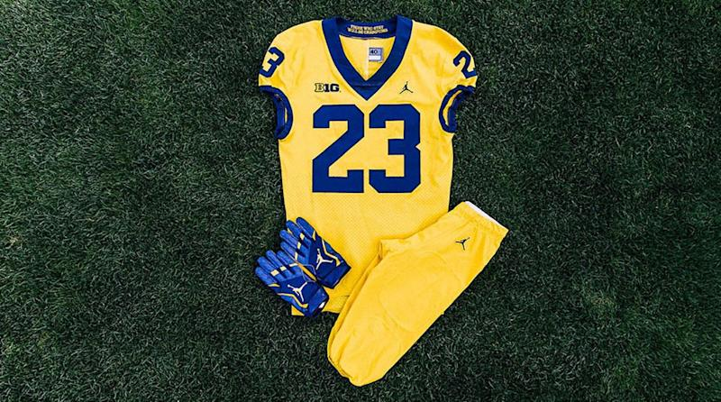 Photos  Michigan Unveils All-Maize Uniforms vs. Florida In Week 1 435f074ce