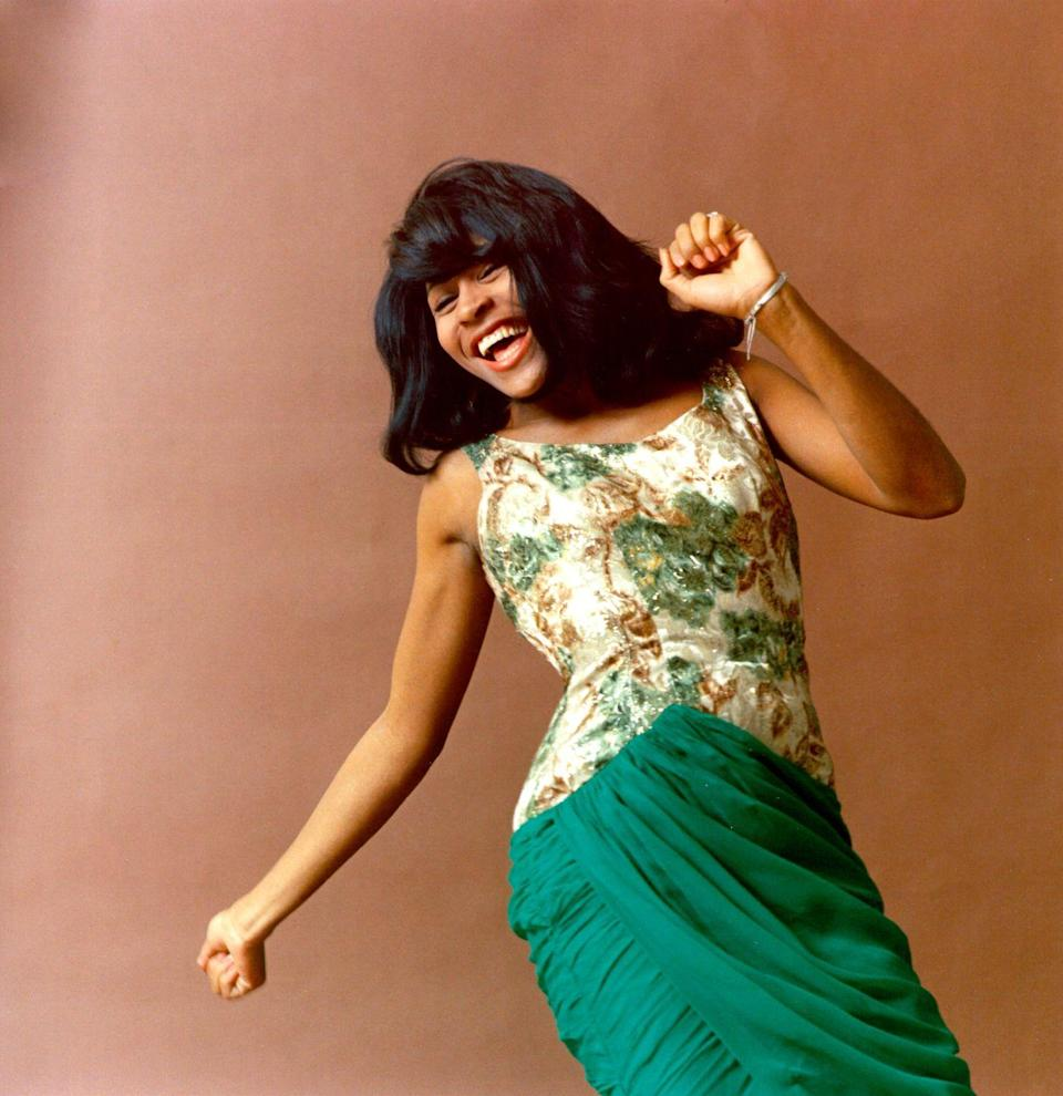 <p>Here's Tina letting loose in a seemingly carefree moment during a photoshoot in the mid-1960s. </p>