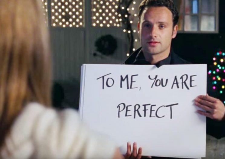 Stalker… Lincoln agrees that his character Mark in Love Actually was a bit stalky – Credit: Working Title