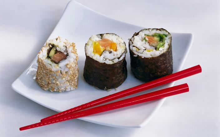 Maki sushi and California roll - Maximilian Stock