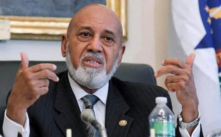 In this May 19, 2010 file photo, Rep. Alcee Hastings, D-Fla. speaks on Capitol Hill in Washington.