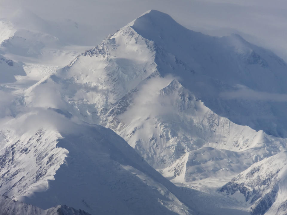 FILE - This Aug. 27, 2014, file photo shows a view of one of the faces of North America's tallest peak, then-named Mount McKinley, in Denali National Park and Preserve, Alaska. Rangers who keep an eye on North America's highest mountain peak say they are seeing impatient and inexperienced climbers take more risks and put their lives and other climbers in danger In 2021. (AP Photo/Becky Bohrer, File)